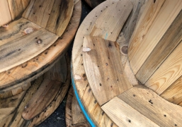 Wooden Fiber Cable Drums