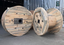 Wooden Conductor Rope and Wire Drums