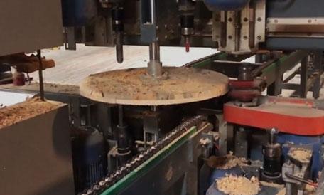 إنتاج بكرة الكابلات الخشبية